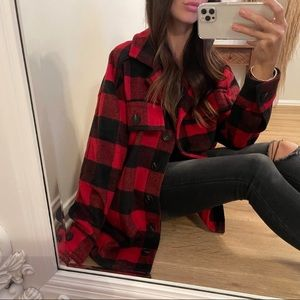 🔁 Re-Posh Holly Red and Black Flannel Coat